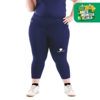 Tiento Baselayer Celana Ketat Legging 3/4 Pants Navy Women Jumbo