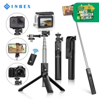 INBEX P40s Tongsis 4 in 1 Bluetooth Selfie Stick Tripod for HP Camera