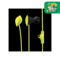 NeoPlug Leaf Earset with Built-In Microphone By SonicGear B.Green