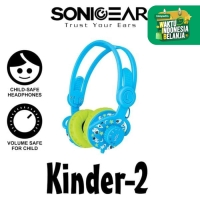 Headset Headphone Sonicgear Kinder 2 Kids Child Sound Safe Wired Blue