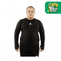 Tiento Baselayer Compression Long Sleeve Black Thumbhole Men Jumbo