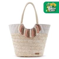 Sakroots Lola Beach Bag White Tribal Beauti