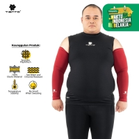 Tiento Hand Sock Manset Tangan Baselayer Hand Sleeve Maroon Men Jumbo