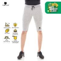 Tiento Celana Jogger Half Selutut Fleece Sporty Misty Men