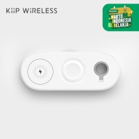 KIIP V6 WIRELESS CHARGER PAD 3IN1 FAST CHARGING IPHONE SAMSUNG WATCH