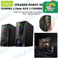SPEAKER AKTIF ROBOT RS200 GAMING 3.5mm AUX 2 CHANNEL PC KOMPUTER AUDIO