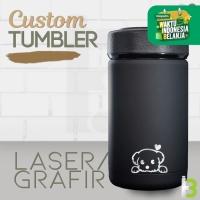 CUSTOM TUMBLER TERMOS COFFEE SERIES SOVENIR/PROMOSI LASER GRAFIR
