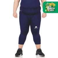 Tiento Celana Leging Sport Legging Olahraga 3/4 Pants Navy Men Jumbo