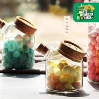 UCHII Glass Bottle Canister w/ Cork Food Jar   Wadah Kaca Serbaguna