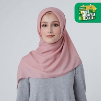 Zoya Kerudung Segi Empat Polos - Maruna Plain Scarf Warna Dusty Pink