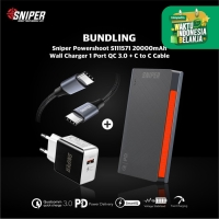 BUNDLING POWERSHOOT S111571 & Wall Charger 1 QC3.0 + C to C Cable