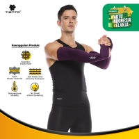 Tiento Hand Sleeve Thumbhole Arm Manset Tangan Purple Men