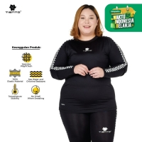 Tiento Kaos Sport Manset Baselayer Olahraga Retro Race Women Jumbo