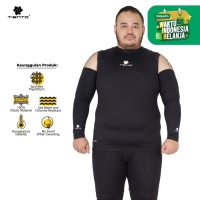 Tiento Hand Sock Manset Tangan Baselayer Hand Sleeve Black Men Jumbo
