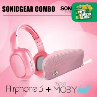 SonicGear Moby P5000 Speaker Bluetooth Combo Airphone 3 Bleutooth
