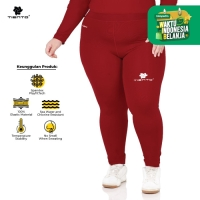 Tiento Celana Legging Olahraga Long Pants Women Maroon Women Jumbo