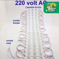 lampu led modul strip 3 mata 220 Volt AC Langsung Listrik Rumah