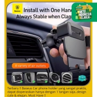 BASEUS Car Holder Phone Cube Gravity Holder HP Mount A/C Dudukan HP