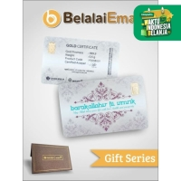 Emas Logam Mulia LM Antam 0,5 gram Gift Series - Barakallahu Fii Umrik