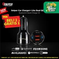 Sniper Car Charger+ Lite Dual Qualcomm QC 3.0