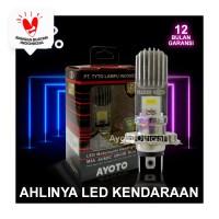 Lampu LED Motor H4 Hi-Lo 12W+12W 2 Sisi AC DC AYOTO M3A PNP VIXION