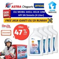 Oli Mobil Shell Helix 10W-30 (4 Ltr) + Free Ganti Oli di Tempat/Rumah