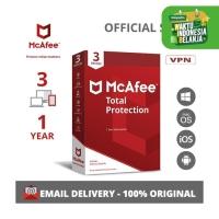 McAfee Total Protection Antivirus ORIGINAL [3 Device - 1 Year]