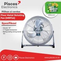 Pisces Kipas Angin Besi Baling Swing Floor Fan 16 Inch MRF16