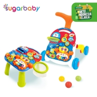 Sugar Baby 10IN1 Premium Activity Walker & Table - Coco Basketball - MERAH BIRU