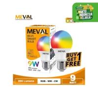Lampu Wifi Smart Bulb LED 9W RGB+WW -MEVAL