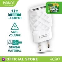 ROBOT RT-K5 Adaptor Triple Charger 2.1A + Micro USB 1M Xiaomi Samsung