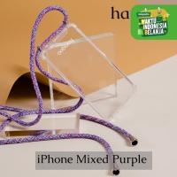 Casing hp iPhone tali mixed purple hangoo