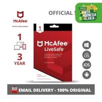 McAfee LiveSafe Antivirus ORIGINAL (1 Device - 3 Year)