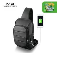 Mark Ryden MR9084 Crossbody Shoulder Bag - Tas Selempang Sling - BLACK