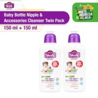 Sleek Baby Bottle Nipple&Accessories Cleanser Bottle 150ml Twin Pack