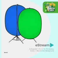 Collapsible Chromakey Green + Blue Screen Background Bundle