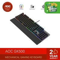 AOC GK500 Mechanical Gaming Keyboard with RGB Lighting - Blue Switches