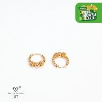 Anting Gipsy Pentul Anak Perhiasan Imitasi Lapis Emas 18K 157 - 20mm