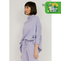 NOA Everyday SET PROMO HANA Knitted Blouse with Pants - Lilac