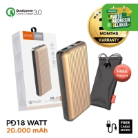 VIDVIE Powerbank PD 18W PB742 20000 mAh/Qualcomm 3.0/Battery Charger