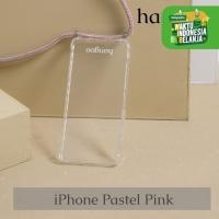 Casing hp iPhone tali pastel pink hangoo