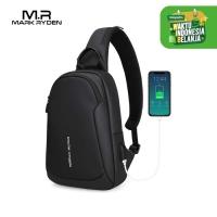 Mark Ryden MR7191 Crossbody Shoulder Bag - Tas Selempang Sling - BLACK