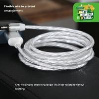 Kabel Charger Magnetic GROTIC Fast Charging USB 3 in 1 Lightning LED