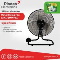 Pisces Kipas Angin Besi 2in1 Metal Floor & Wall Fan 12Inch MWF12
