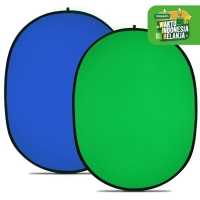 Collapsible 1.5 x 2.1m Chromakey Green + Blue Screen Background