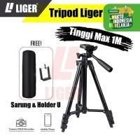 Tripod Liger L-3120 Black Edition 1 meter + Sarung dan Holder U