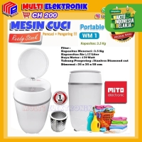 Mesin cuci portable Mito WM1 - Mesin Cuci Mini Portable 3,5 KG