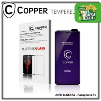 Pocophone F1 - COPPER Tempered Glass ANTI-BLUERAY (Full Glue)