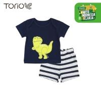 Baju Bayi Laki-Laki Torio My First Dino Casual Set - 3-6 bulan