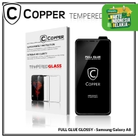 Samsung A8 - COPPER Tempered Glass Full Glue PREMIUM Glossy